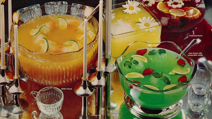 retro punch bowls