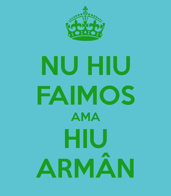 I m not famous but I m Armân/Vlach/Aromanian