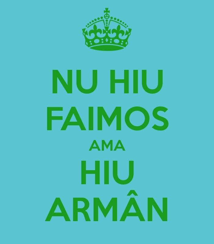 I m not famous but I m Armân/Vlach/Aromanian