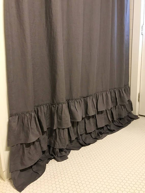 best 25 ruffle shower curtains ideas on pinterest rustic shower curtains tin on walls and. Black Bedroom Furniture Sets. Home Design Ideas
