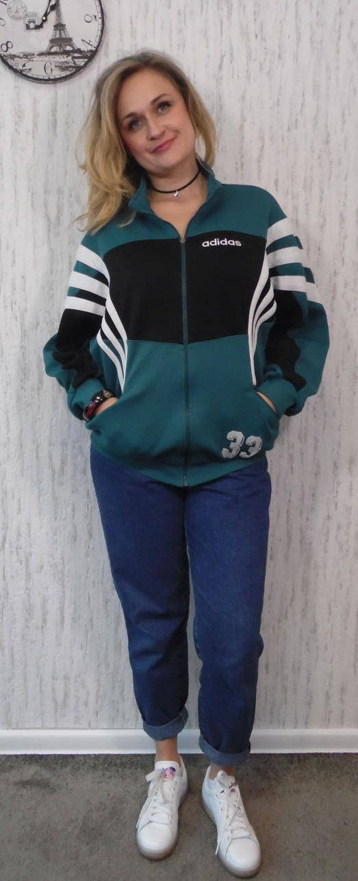 Adidas vintage tracksuit / sports jacket by SweetSpicyVintage on Etsy