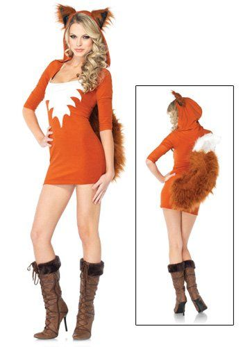 this sexy fox costume is a unique animal halloween costume for women from leg avenue