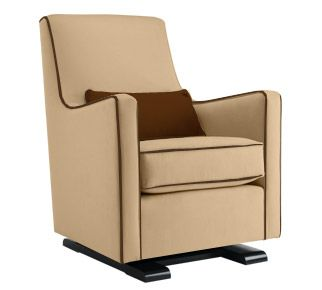 The Luca Glider is a modern upholstered nursing chair that is ready to be  the anchor
