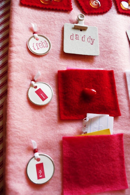valentines advent calendar. everyday for the first 14 days of feb, write a love note to each person of the family... GREAT way to start the day with love ♥