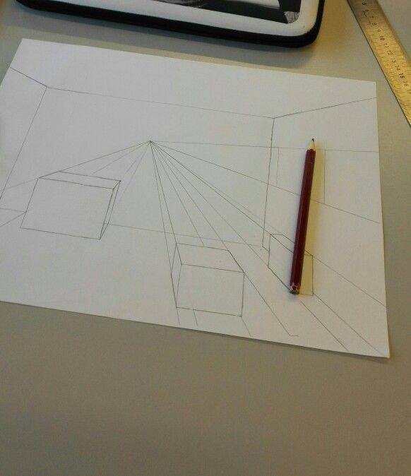 Oefenen met perspectief tekenen en ruimtelijke figuren