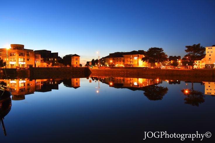 Galway looking onto the fishery watch tower and the river Corrib