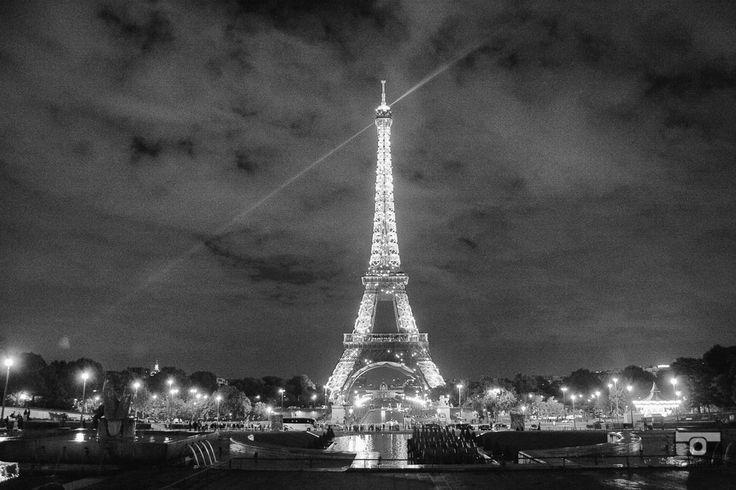 The Eiffel Tower at night, mémoire du paris. #Paris #France #Street Photography #Architecture #Eiffel Tower #BlackandWhite