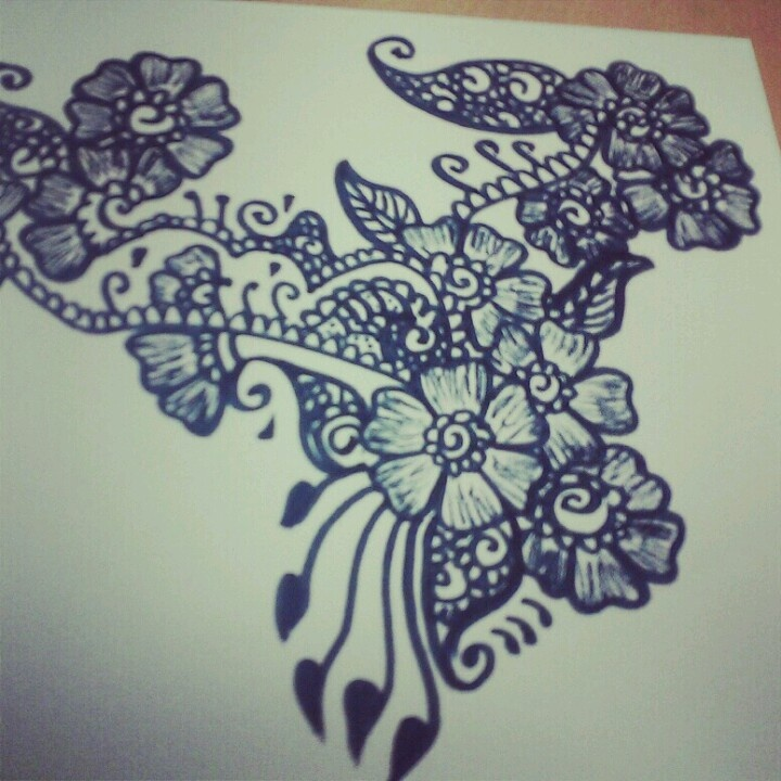 Mehndi Flower Drawing : Best images about draw it on pinterest