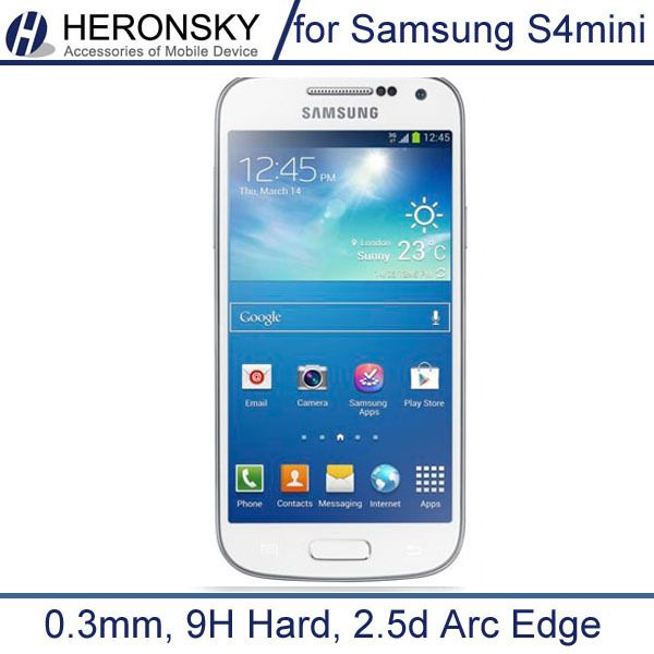 Tempered Glass for Samsung Galaxy S4 mini i9195 i9192 0.3mm Super Thin 9H 2.5d Anti Finger Finger with Clean tools