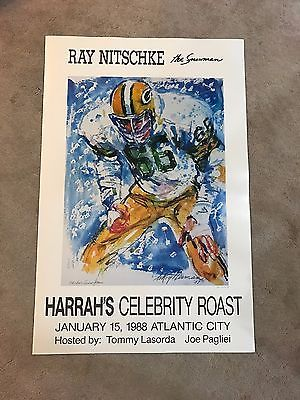 "#art Ray Nitschke ""The Snow Man"" Green Bay Packers LeRoy Neiman Lithograph Print RARE please retweet"
