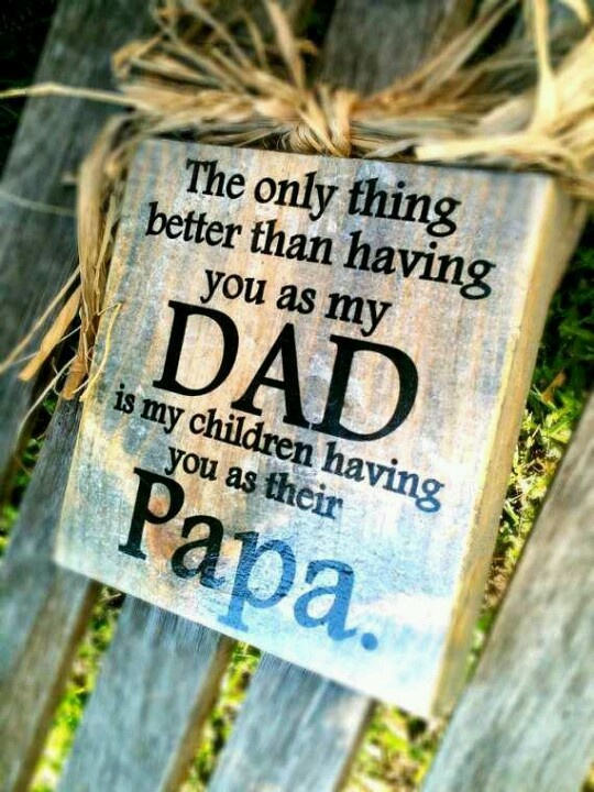 To my father in law from my husband and son!!