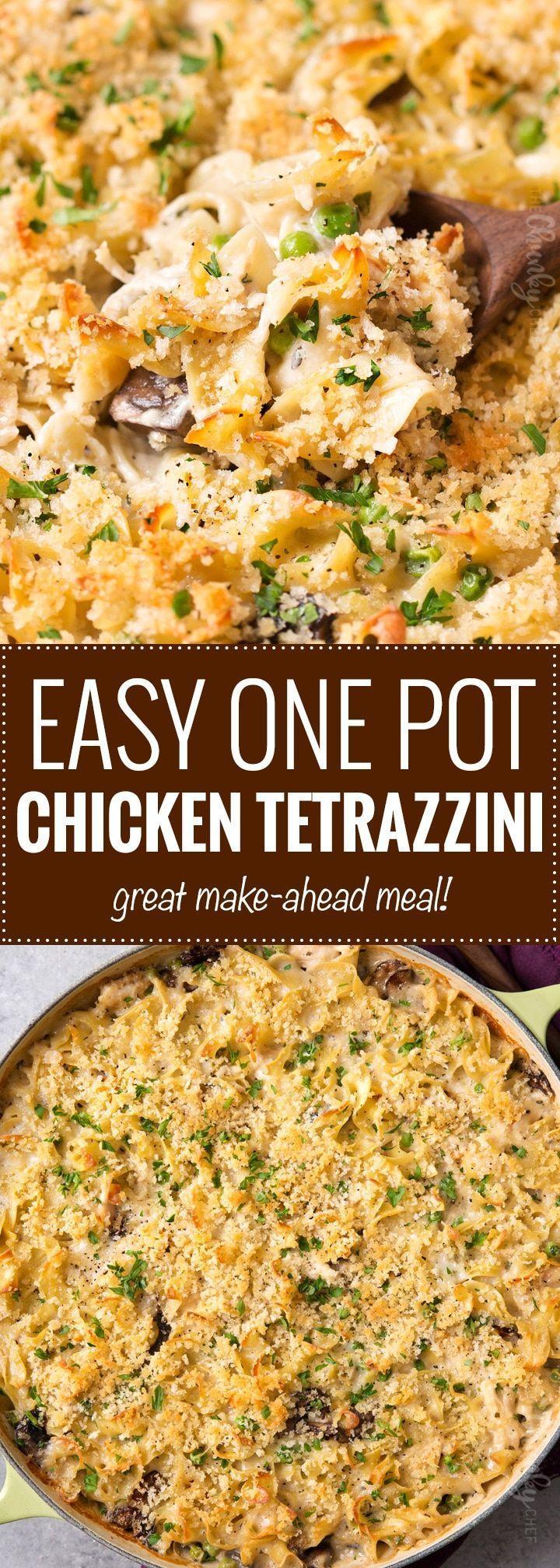 One Pot Chicken Tetrazzini | Posted By: DebbieNet.com