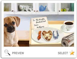 Father's Day Breakfast dog ecard
