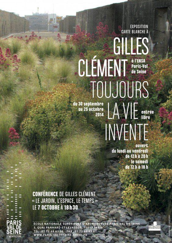 Conférence de Gilles Clément « Le jardin, l'espace , le temps » mardi 7 octobre 2014 http://www.pariscotejardin.fr/2014/10/conference-de-gilles-clement-le-jardin-l-espace-le-temps-mardi-7-octobre-2014/