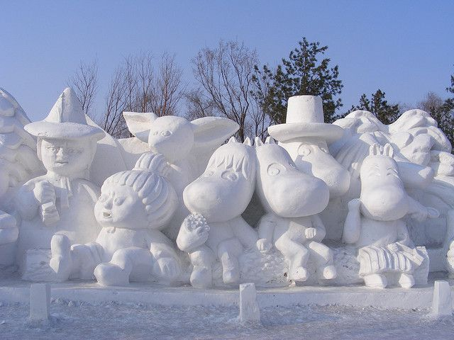 Moomen in Snew, Harbin International Ice and Snow Sculpture Festival by Rincewind42, via Flickr