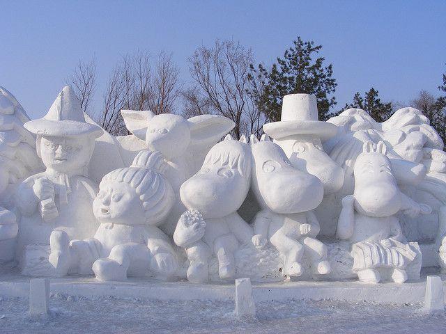 Moomen in Snew, Harbin International Ice and Snow Sculpture Festival | Flickr - Photo Sharing!