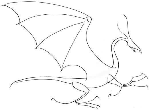 how to draw a dragon with just a few lines. This makes it easier to pose your dragon, and fill in the details for it once you've got its basic shape right.