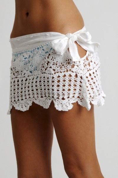 crochet skirt / swimsuit coverup