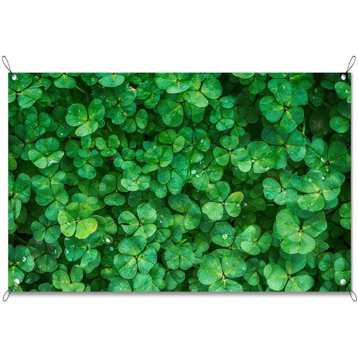 Tuinposter Klavertjes | Maak je tuin nog mooier met een weerbestendige tuinposter van YouPri. Bewezen kleurbehoud! #tuinposter #tuindoek #tuin #poster #weerbestendig #kleurbehoud #frontlit #goedkoop #voordelig #spanners #ogen #groen #klaver #klavers #klavertjes #plant #natuur