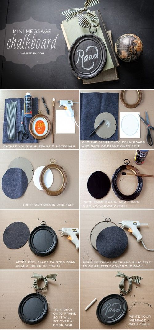 DIY Mini Chalkboard Frames To Decorate Your Interior | Shelterness