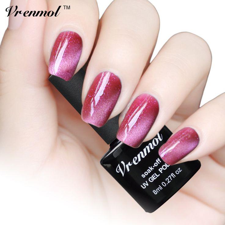 Vrenmol 1pcs 3D Cat Eyes UV Gel Polish 8ml Soak Off LED UV Gel Nail Polish Long-Lasting Magnetic Gel Lacquer Varnish