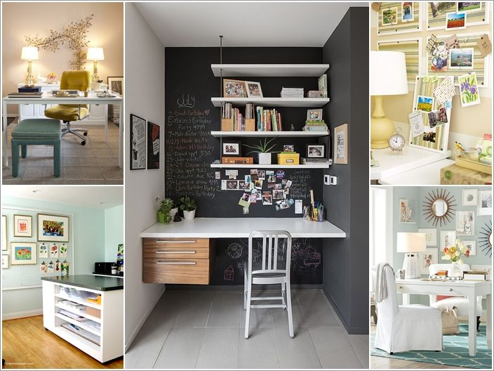 10 awesome ideas to decorate your home office wall home for How to decorate desk in office