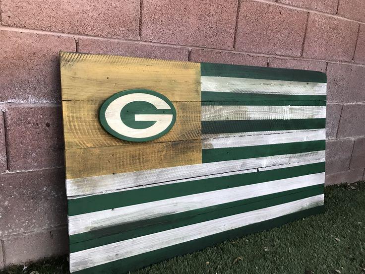 Green Bay Packers wood flag