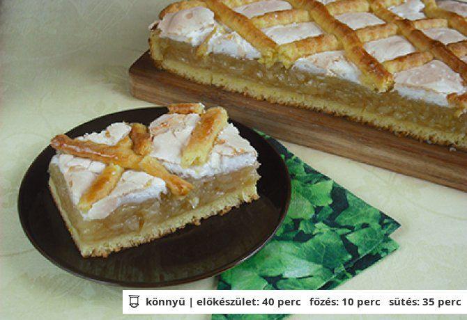 Krémes-habos almás pite   NOSALTY – receptek képekkel