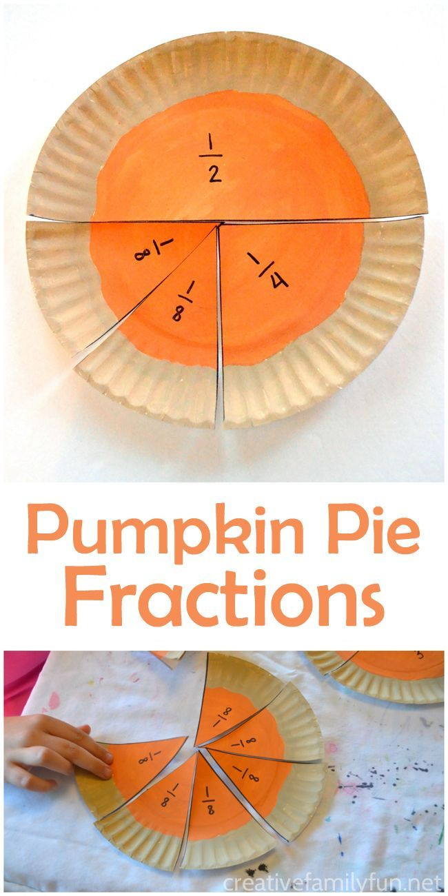 Learn about fractions with this fun hands-on Thanksgiving math activity: Pumpkin Pie Fractions.