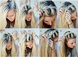 Resultado de imagem para penteado com trança e amassado