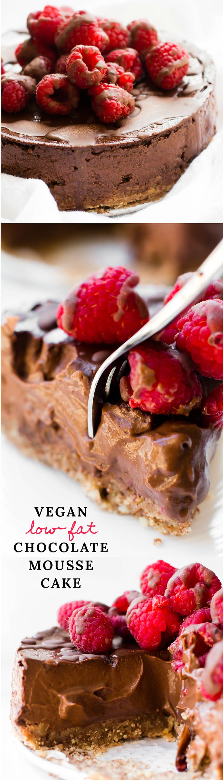 This insanely decadent Chocolate Mousse Cake may taste like a rich dessert indulgence but it's made from just a few healthy ingredients right in the blender!