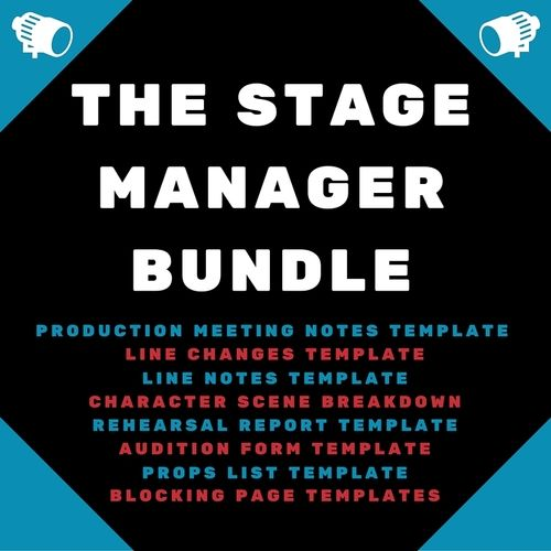 The Stage Manager Bundle - great templates to keep modern stage manager's organized and on-track. Click through to download.