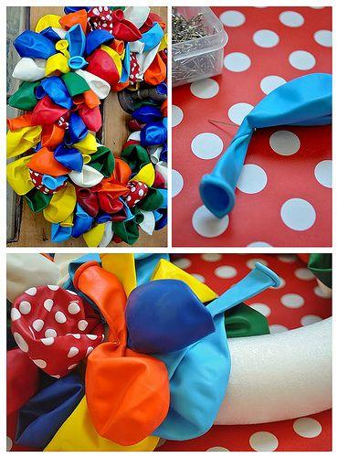 Party Tutorials - Fabric Wreath & Balloon Wreath Tutorial - Kara's Party Ideas…