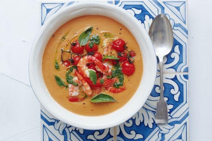 Provencale prawn soup with pistou
