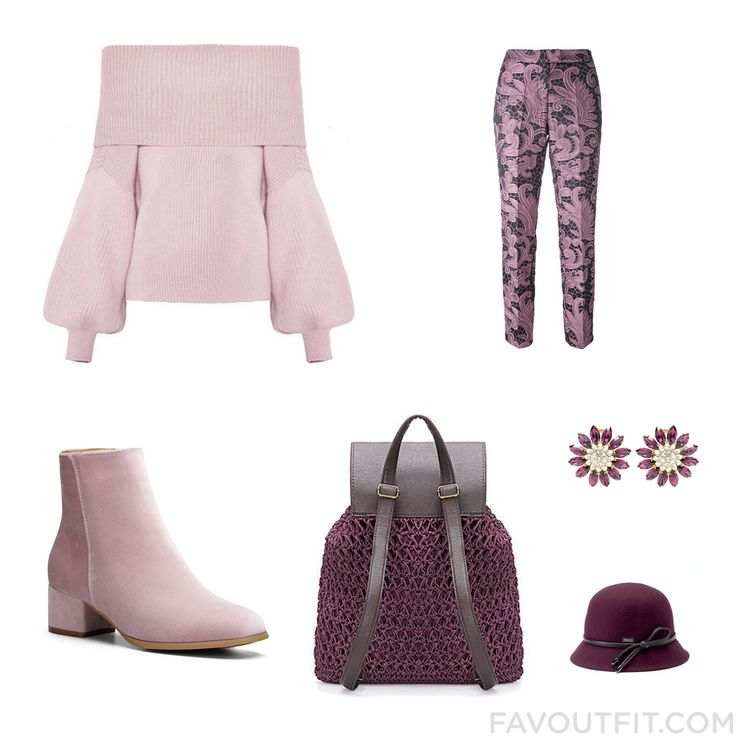 Closet Inspirations Including Sweater Cropped Capri Pants Ankle Booties And Purple Evening Bag From November 2016 #outfit #look