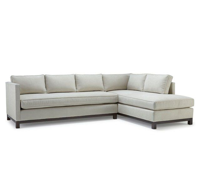 Mitchell Gold + Bob Williams's Clifton sectional, with its deep seat and slim arms, is a smart solution for a family home. Try upholstering it in one of the brand's stain-resistant Boulevard velvets; starting at $5,230. mgbwhome.com