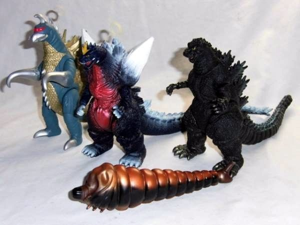 Bandai Godzilla Gaigan Mothra space Godzilla monster Soft Vinyl set Rare F/S #Bandai