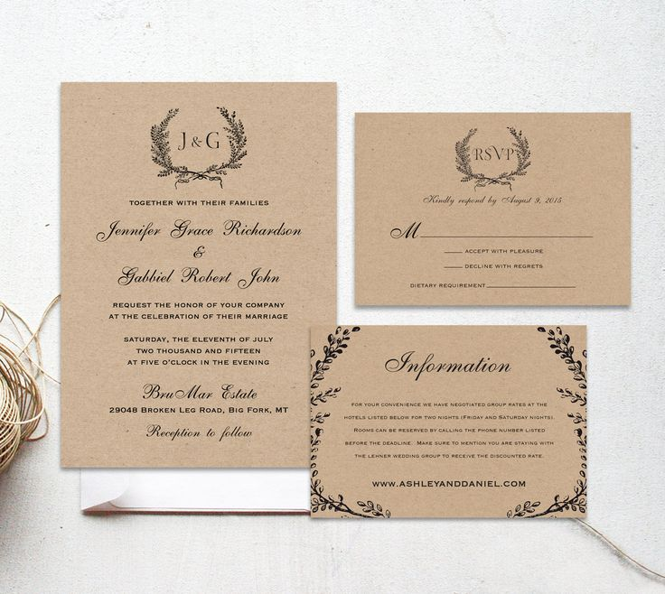 confetti daydreams wedding invitations%0A The Onyx Suite  Printable wedding invitation suite  Minimalist wedding   Kraft paper rustic whimsical wedding invitation calligraphy