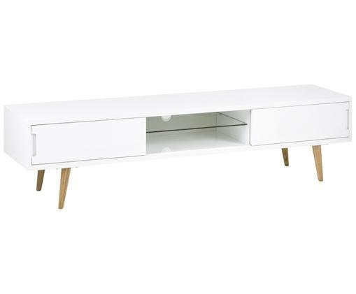 Mobiele Tv Meubel.Tv Meubel Cassie In Wit Hoogglans In 2020 Furniture Office Desk
