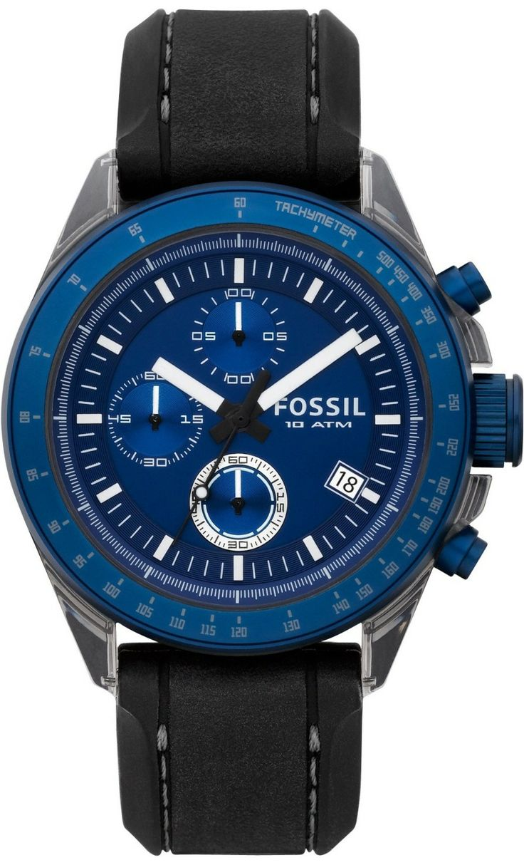 #Fossil #Watch , Men's CH2784 Silicone Analog with Blue Dial Watch