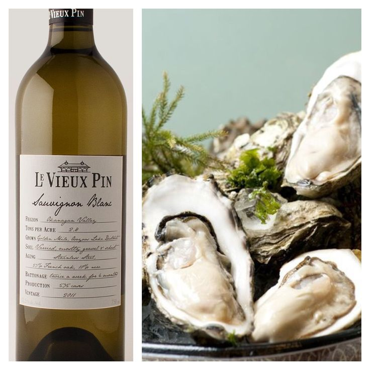 """A Wine & Food Pairing from Mike (our Operations Manager): Wine - Sauvignon Blanc  Food - One of Mike's favourites pairing this wine with fresh oysters - specifically """"Oysterman Oysters"""" from Cortes Island. Watch for our 2015 vintage - http://www.levieuxpin.ca/wines/"""