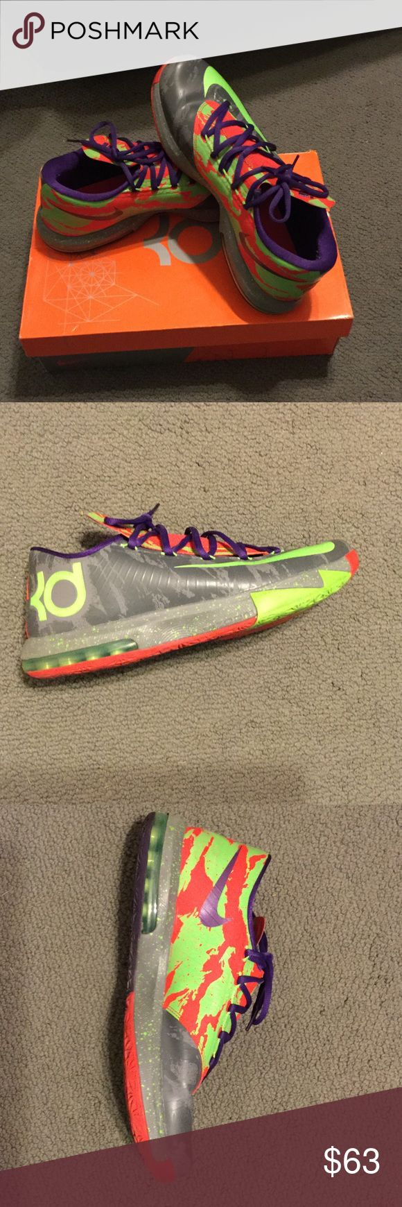 KD VI Used Nike KD VI multi color shoes. Nike Shoes Sneakers