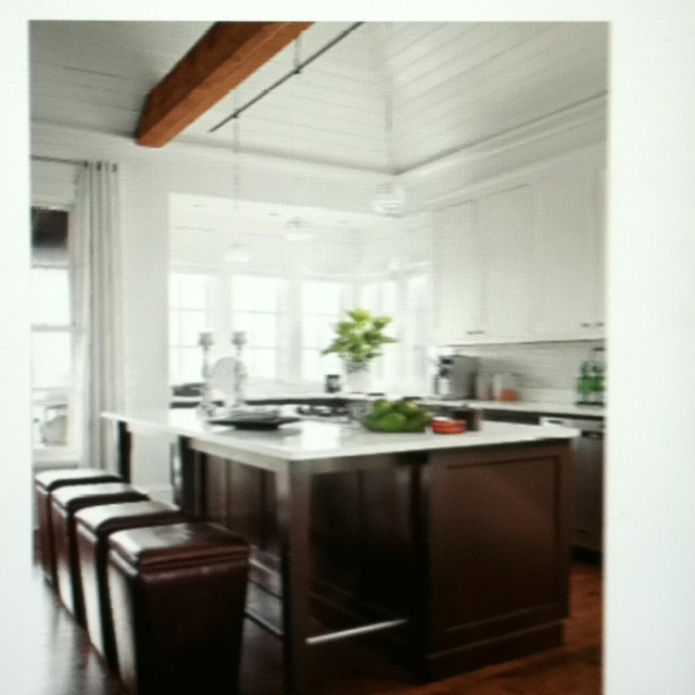 island with foot rails bhg august kitchens