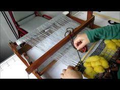 Telar de Peine - Maria. Curso Express Rigid Heddle Loom Webrahmen lernen. Lana Wolle - YouTube
