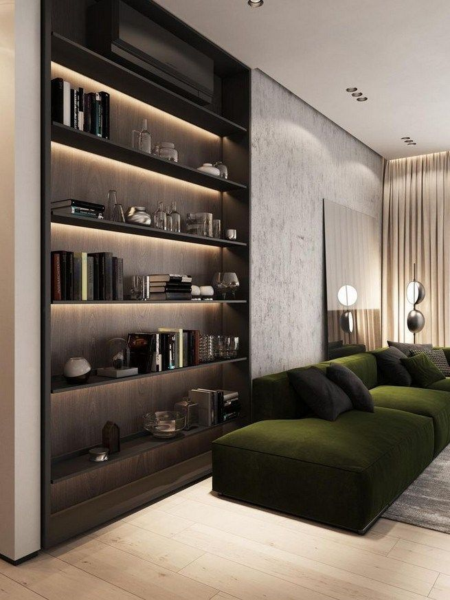 16 Elegant Living Room Shelves Decorations Ideas With Images