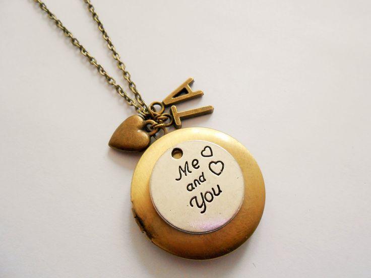 Collier coeur - collier love - collier personnalisé avec initiales - collier porte photo - collier pendentif porte photo : Collier par esthete-bijoux