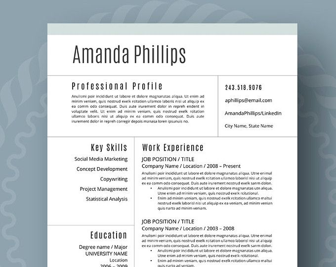 browse unique items from resumefoundry on etsy a global marketplace of handmade vintage and modern resume templatecv - Vintage Resume Template