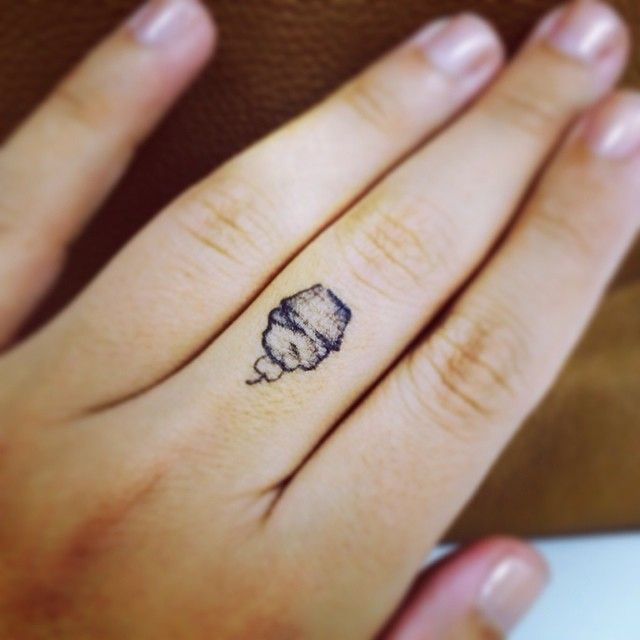 a teeny tiny cupcake tattoo.