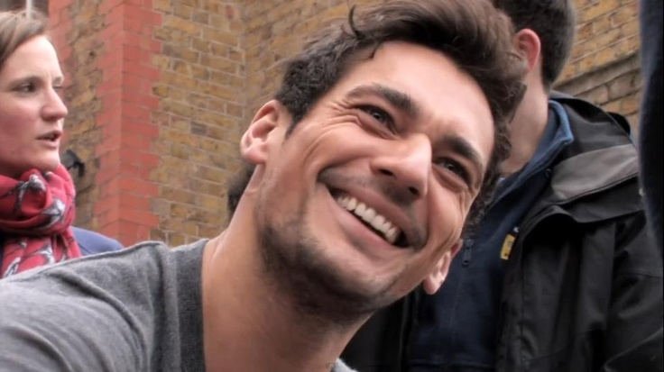 David smiling is amazing!!