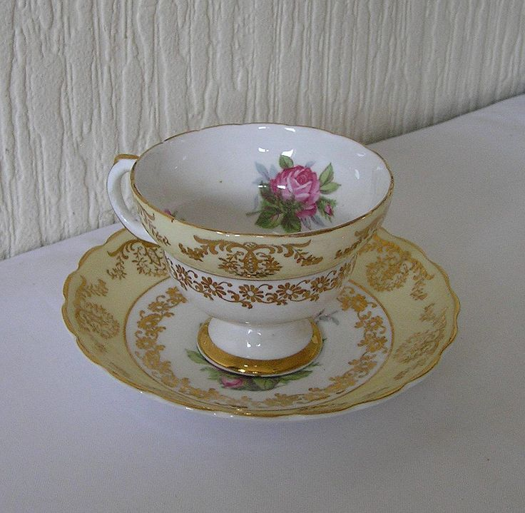 Vintage Art Deco Derby Tea Cup and Saucer  Fine Bone China WORLD WIDE SHIPPING by TheMewsCottage on Etsy